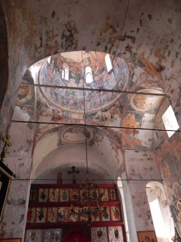 Frescos in the vaulted ceiling