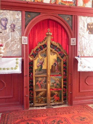 Wood painted Altar screen