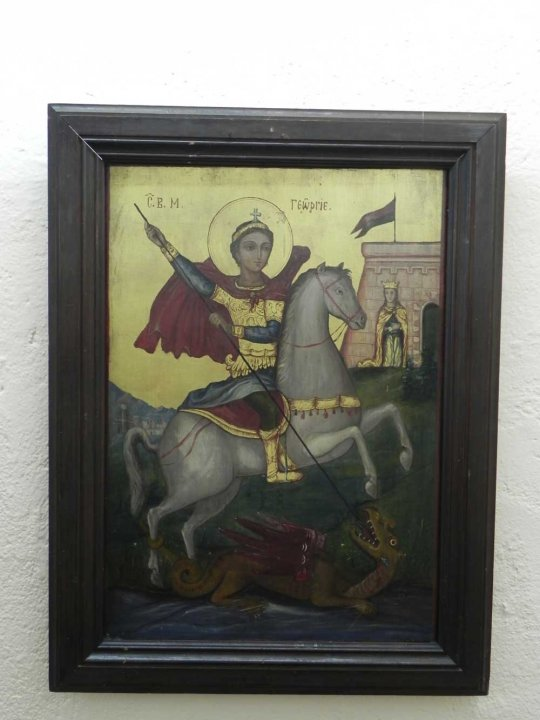 St George killing the dragon