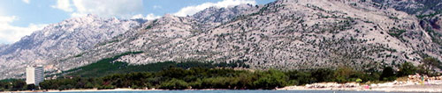 Velebit from Seline